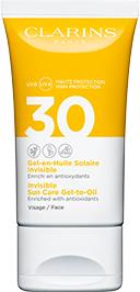 Gel-Olio Solare Invisibile Viso UVA/UVB 30