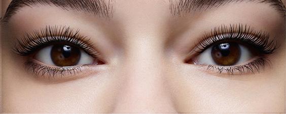 Visual prima e dopo mascara