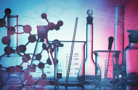 Foto di una provetta in un laboratorio