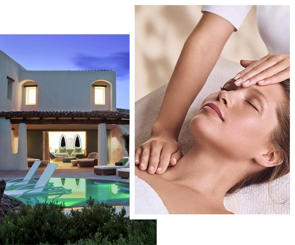 Visual di una Spa By, Donna riceve un massaggio da una professionista di bellezza