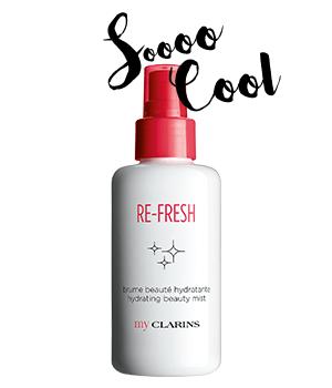 My Clarins RE-FRESH spray idratante bellezza immediata