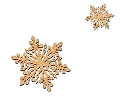 a golden snowflake